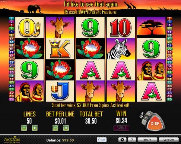 50 Lions Pokies Game