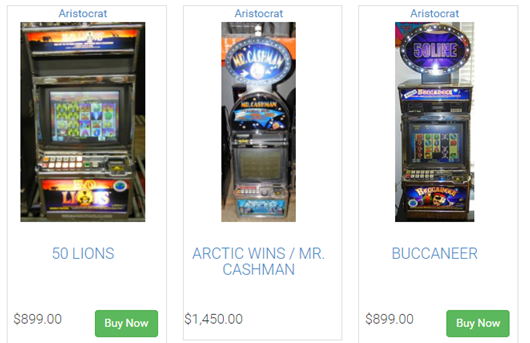 Aristocrat Poker Machines for sale