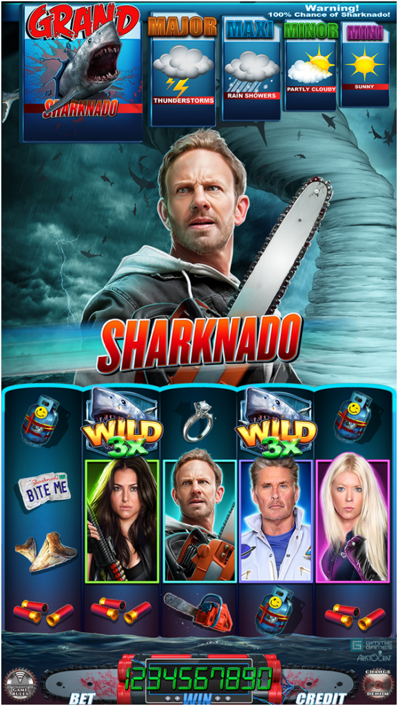 Where to play Sharknado pokies