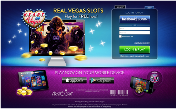 Heart of Vegas Casino App- Getting started
