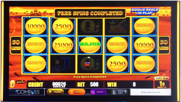 Features in pokies game