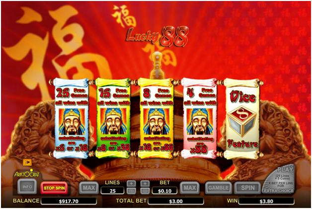 Lucky 88 pokies