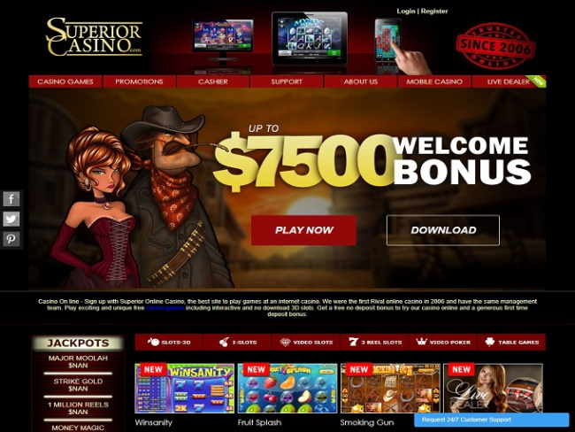 Payment Options of Superior Casino