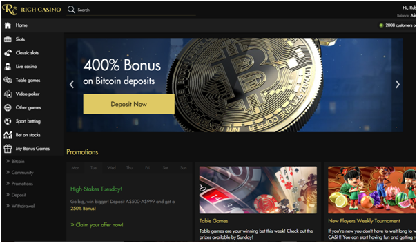 Rich Casino Bitcoin Bonus