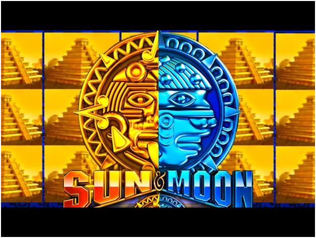 Sun and Moon pokies design