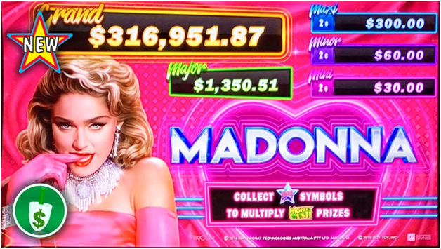 madonna pokies features